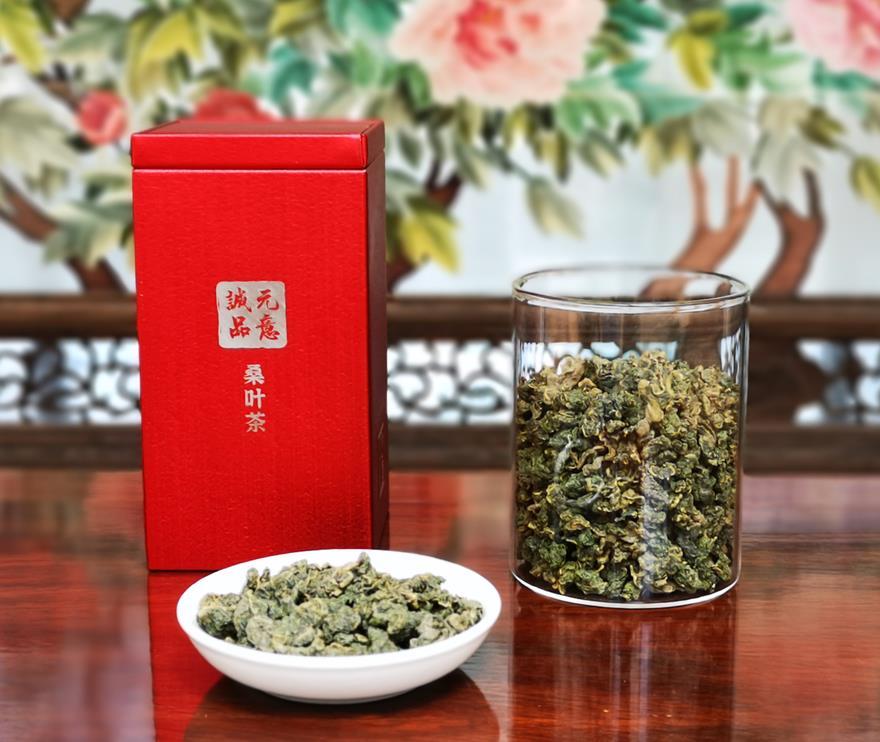 桑叶茶红方罐装
